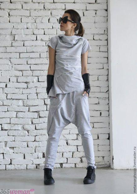 спортивный костюм оверсайз серый