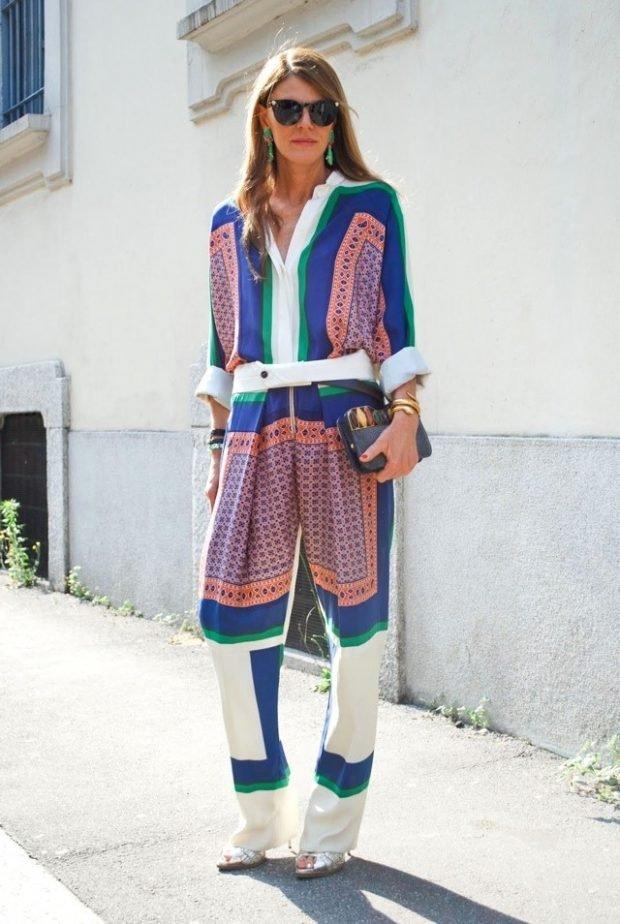 цветной в пижамном стиле