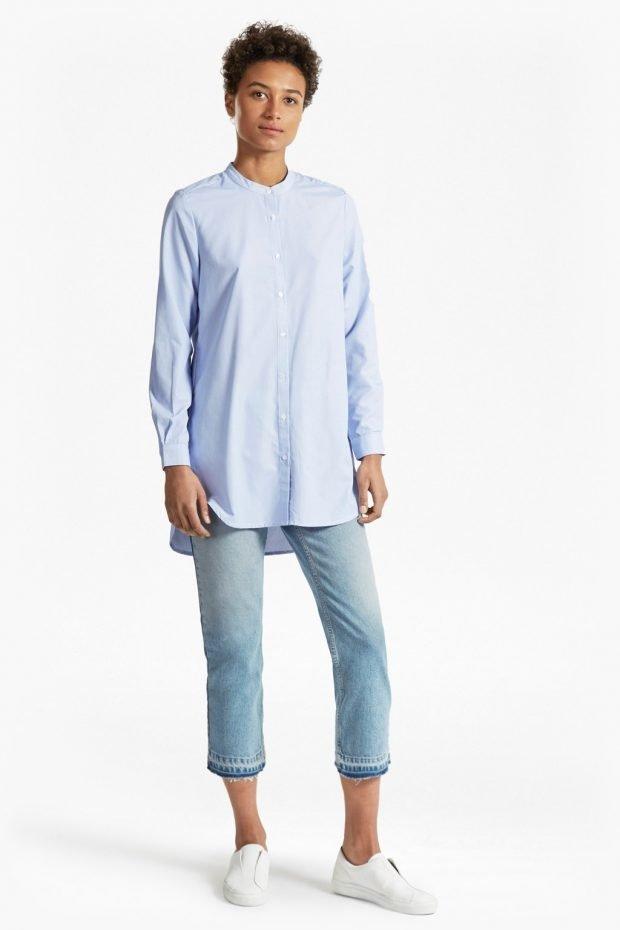 голубая туника рубашка