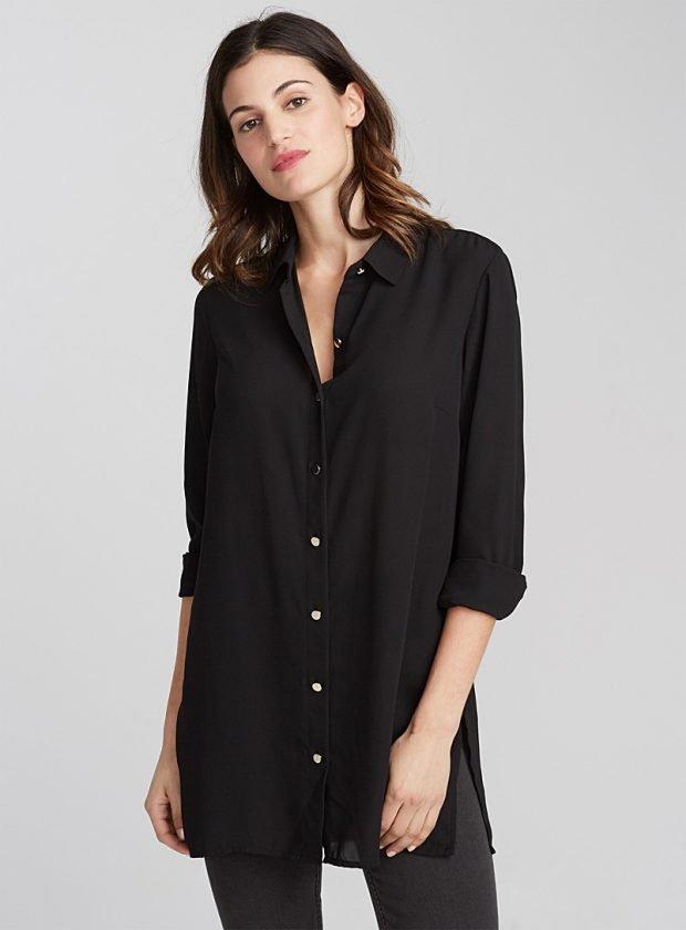 черная туника рубашка