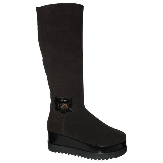 с чем носить обувь на тракторной подошве: сапоги на платформе