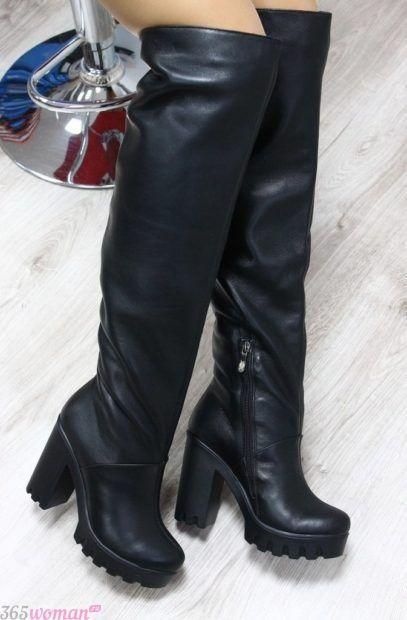 ботфорты на каблуке