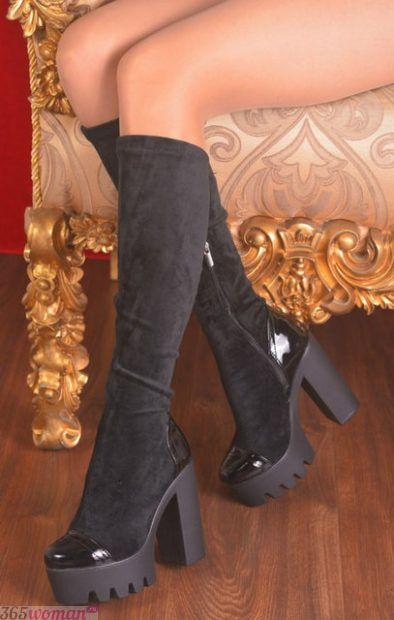 замшевые сапоги на высоком каблуке
