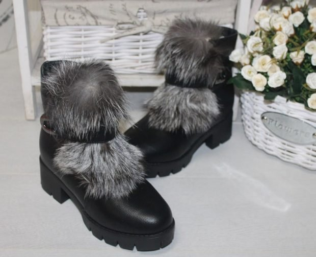 зимние ботинки на тракторной подошве