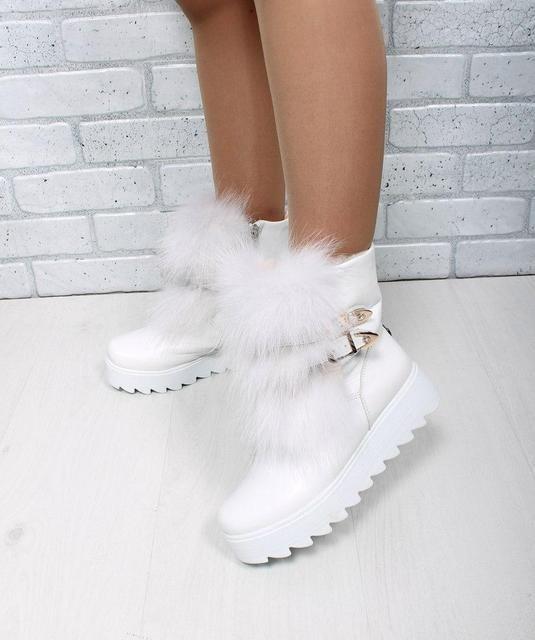 ботинки с мехом на тракторной подошве