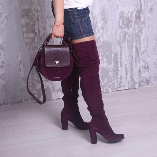 сапоги осень зима женские: высокие ботфорты на каблуке