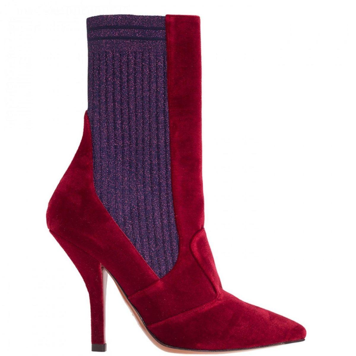 красные полусапожки с резинкой модные сапоги весны 2018