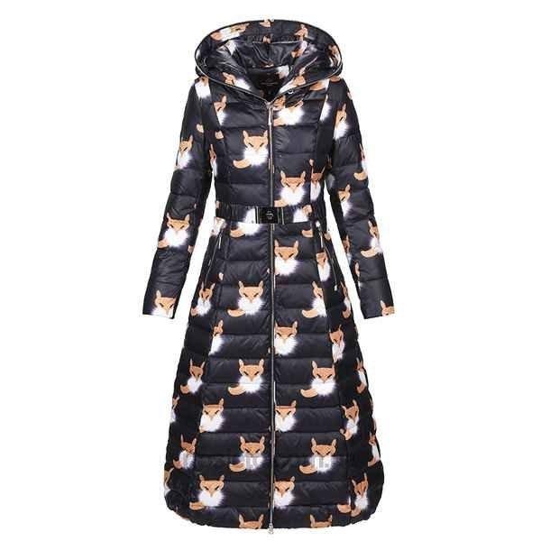 осень зима 2018 2019 верхняя одежда женская: пуховик с ярким принтом