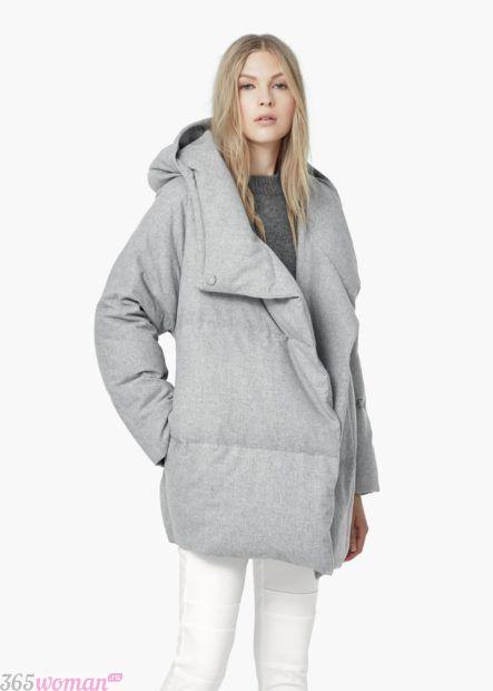 осень зима 2018 2019 верхняя одежда женская: серый пуховик оверсайз