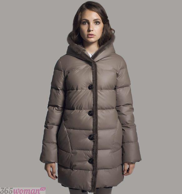 модная верхняя одежда осень зима 2018 2019: короткий пуховик на пуговицах