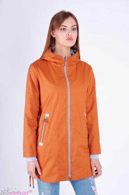 верхняя одежда осень зима 2018 2019 фото: оранжевый короткий прямой плащ