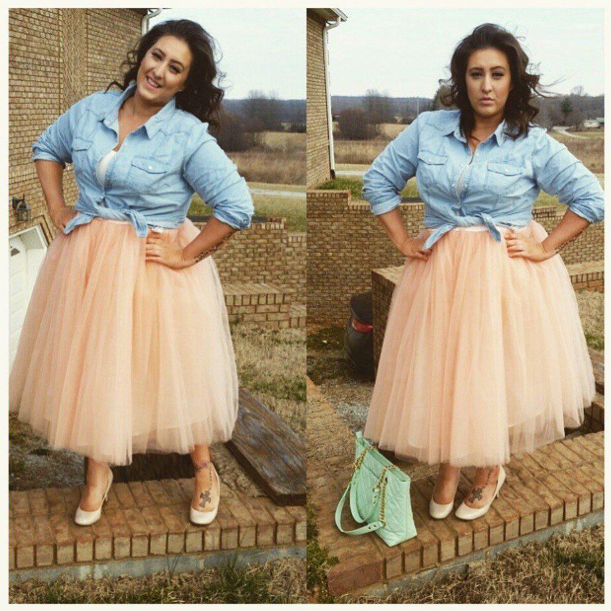 юбка пачка для полных пудрового цвета