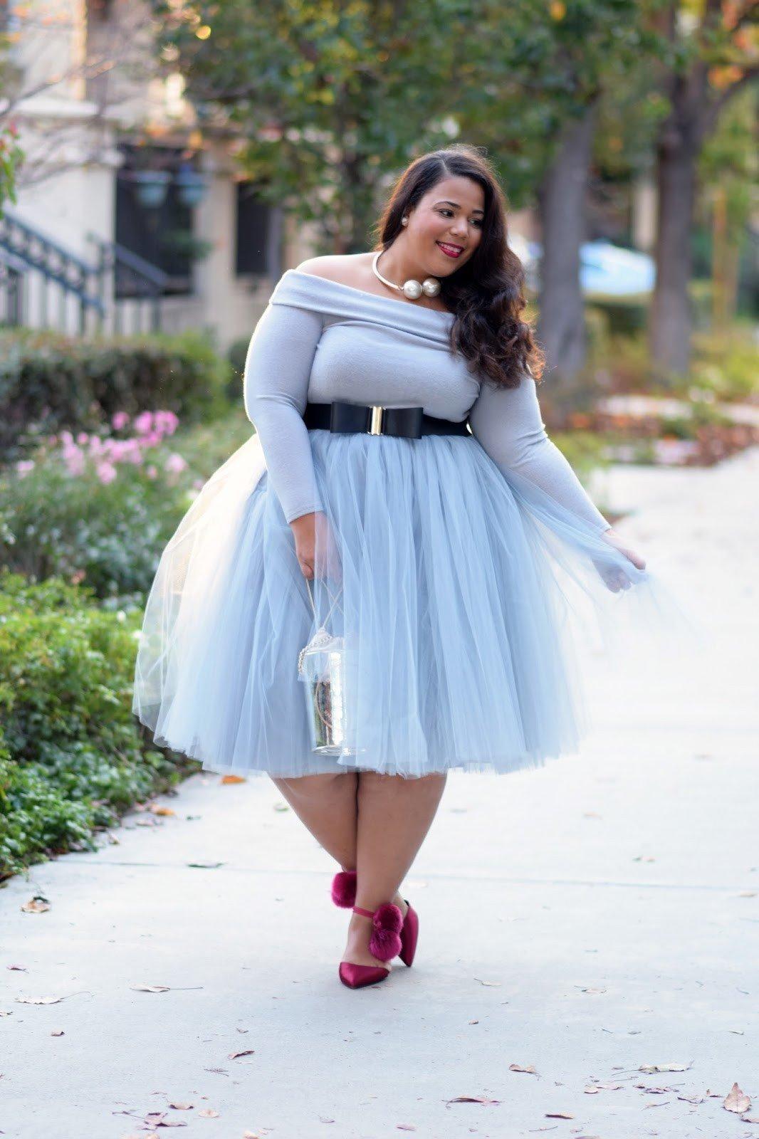 голубая юбка пачка для полных
