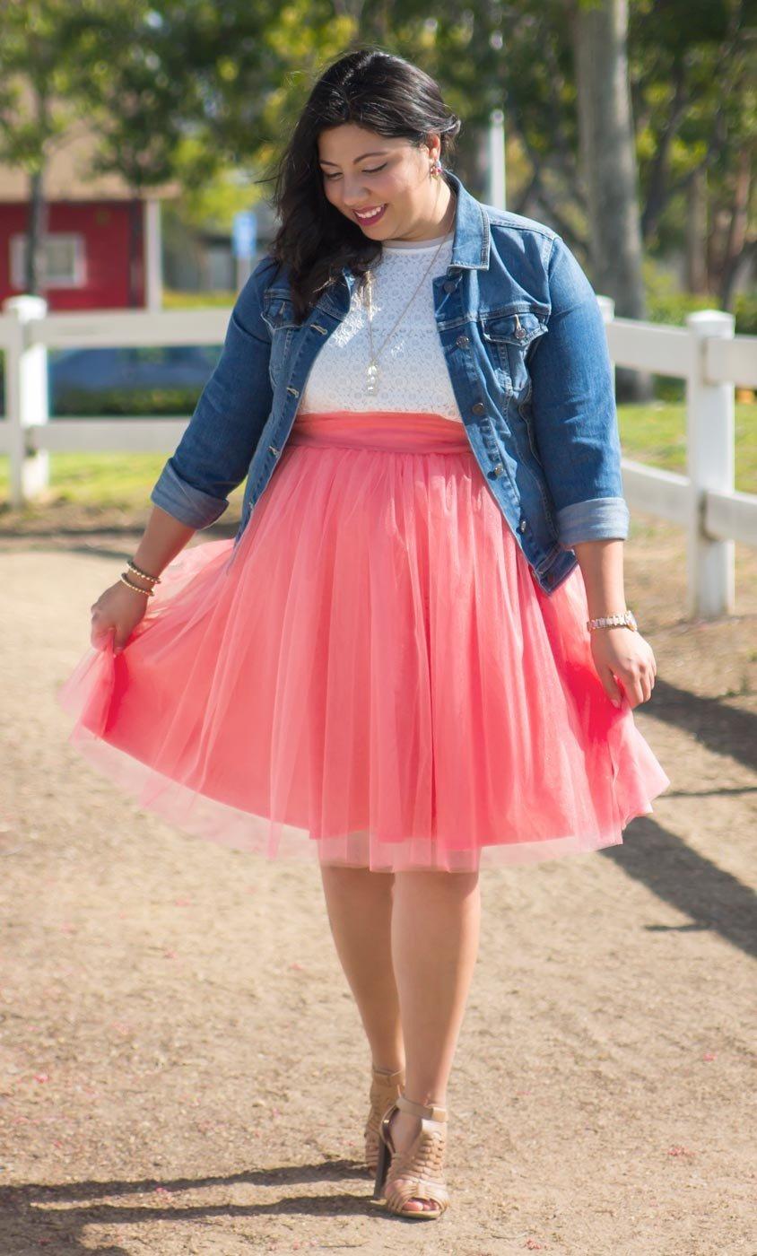 розовая юбка пачка для полных