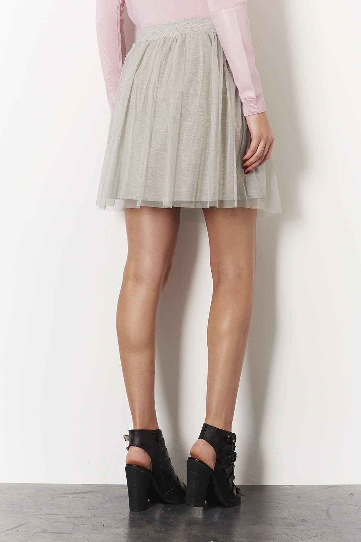 короткая серая юбка пачка