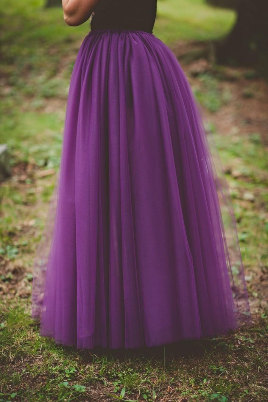 фиолетовая длинная юбка пачка