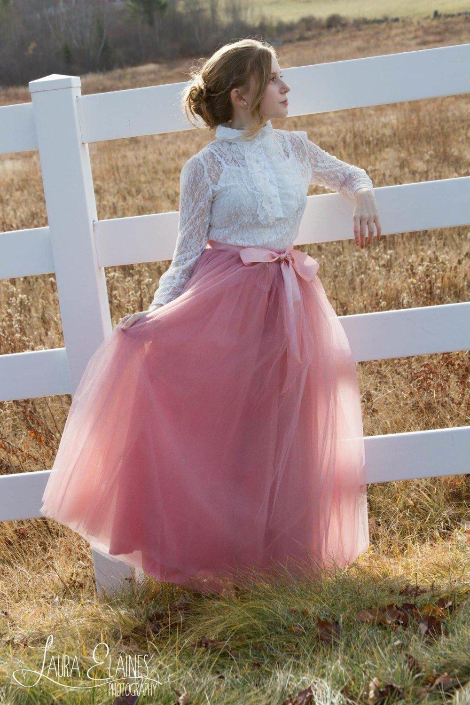 розовая длинная юбка пачка