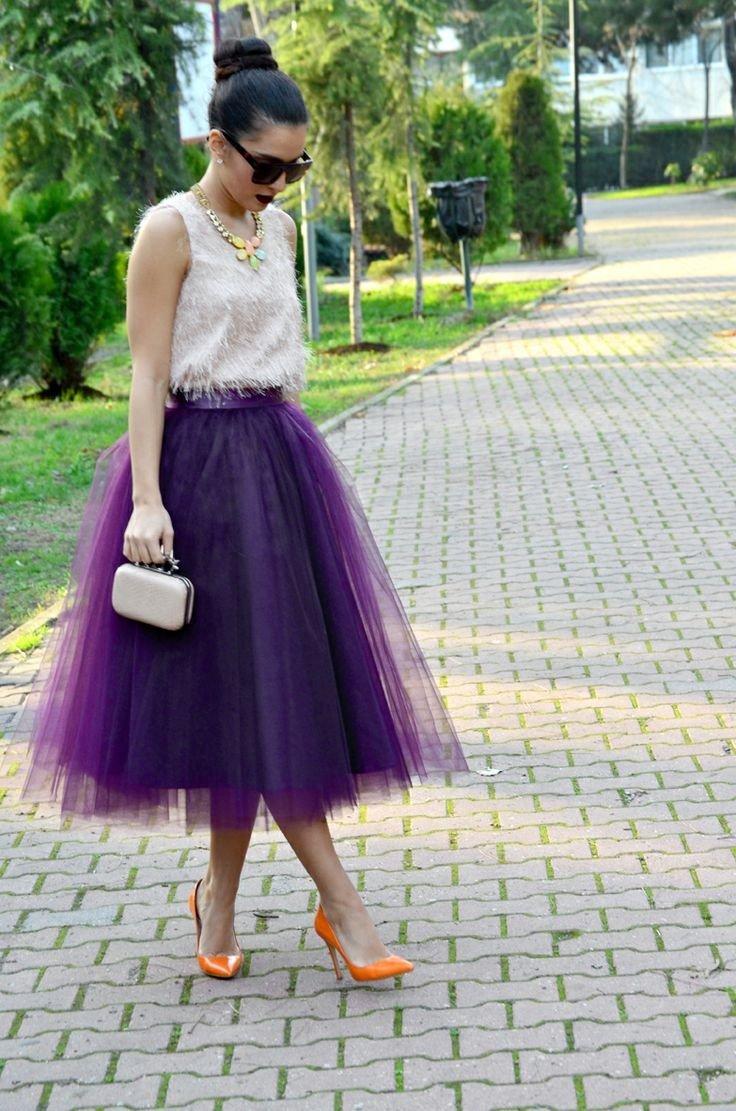 нарядная фиолетовая юбка пачка