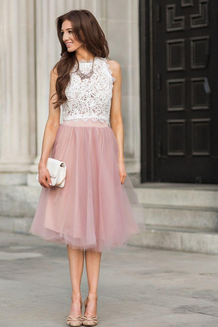 розовая нарядная юбка пачка и кружевная блуза