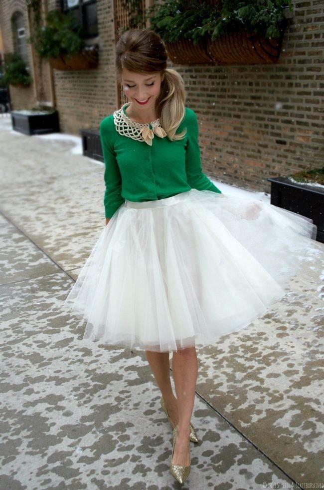 пышная белая юбка пачка торжественная
