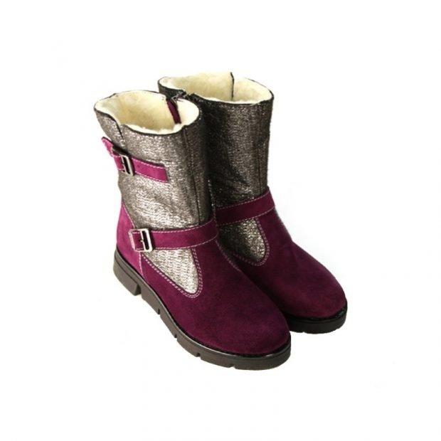 женская обувь осень зима 2019 2020: полусапожки из комбинированного материала