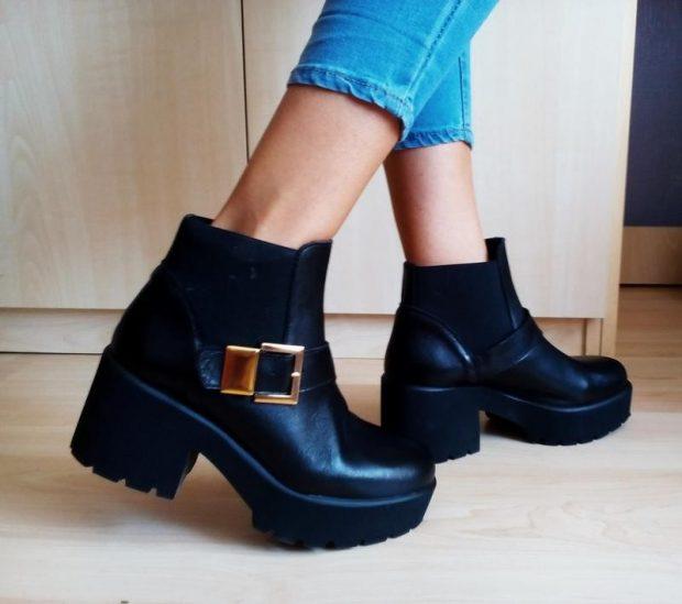 женская обувь осень зима 2019 2020: ботинки на тракторной подошве