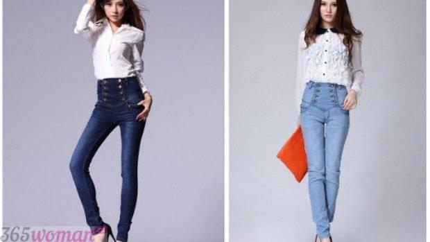 брюки с завышенной талией котоновые с чем носить
