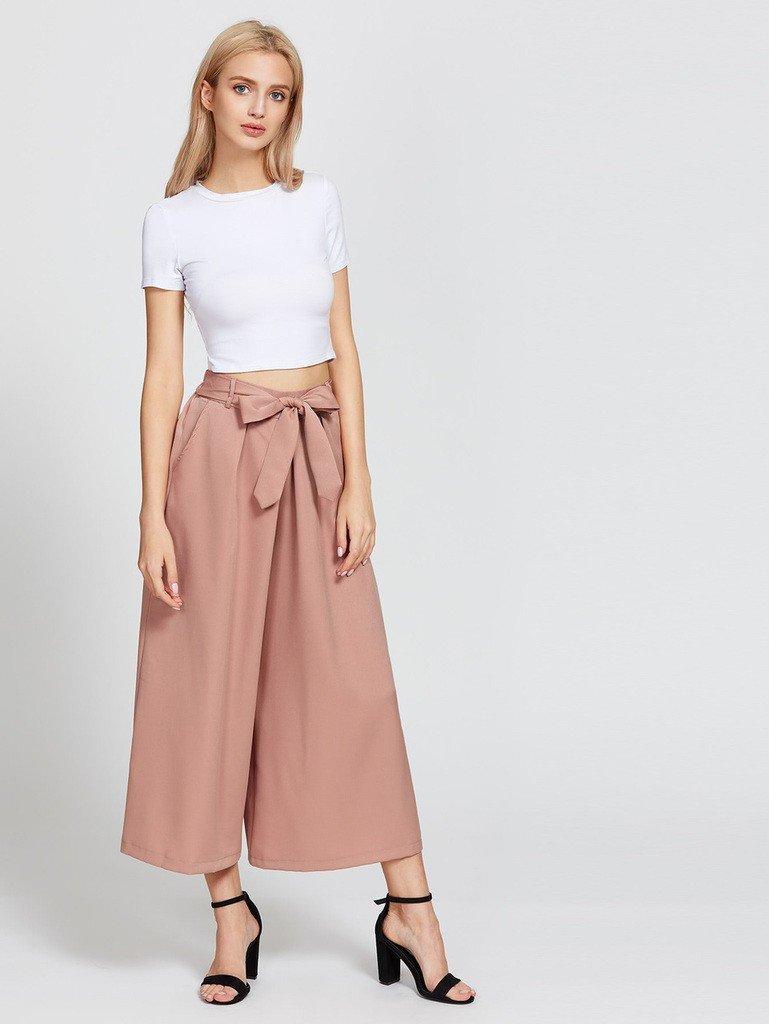 брюки-кюлоты бежевого цвета