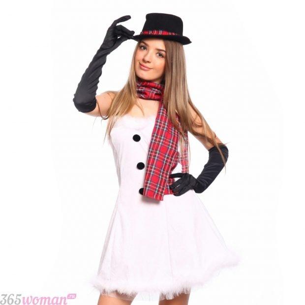 Что одеть на новогодний корпоратив: карнавальный костюм снеговика