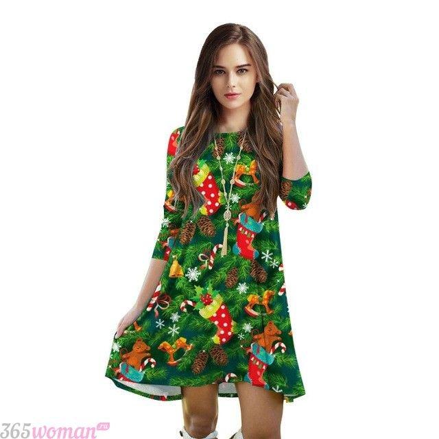 Что одеть на новогодний корпоратив: платье с новогодней тематикой