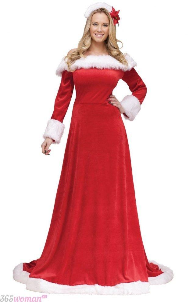 Что одеть на новогодний корпоратив: длинное карнавальное платье красное
