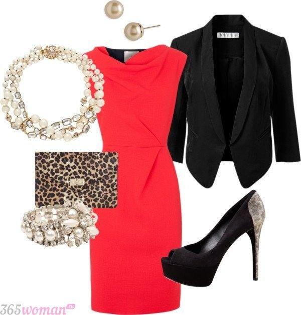 Что одеть на новогодний корпоратив: красное платье, туфли и аксессуары
