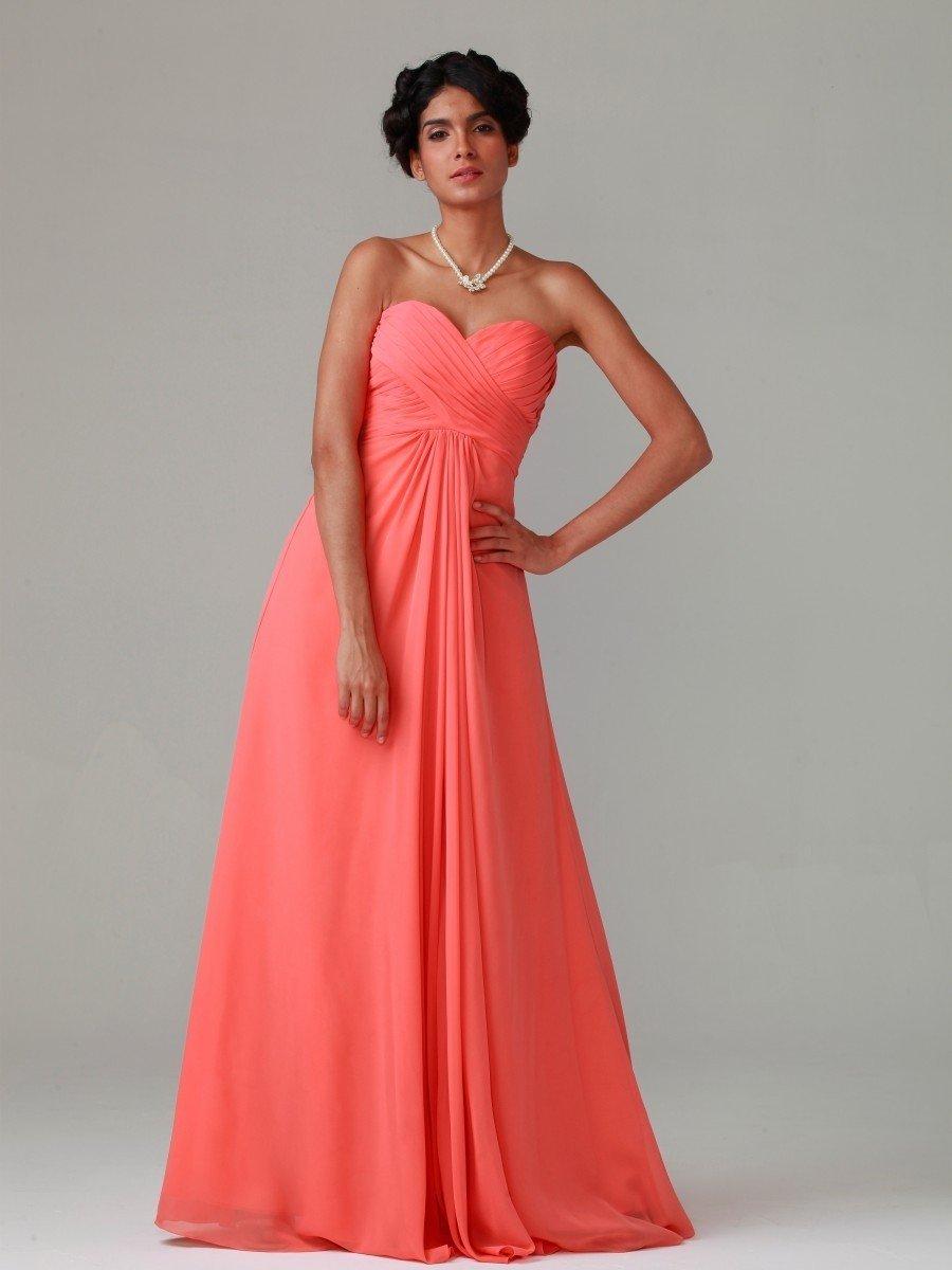 коралловое платье в пол с открытым верхом с чем носить
