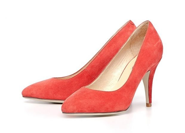 замшевые туфли-лодочки