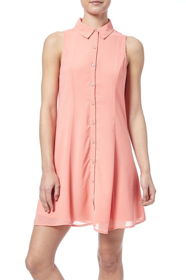 светлое короткое коралловое платье с чем носить