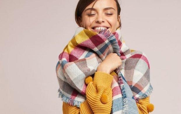 модные шарфы 2019 2020: в клетку