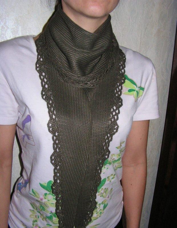 шарфы 2019 2020: галстук зеленый