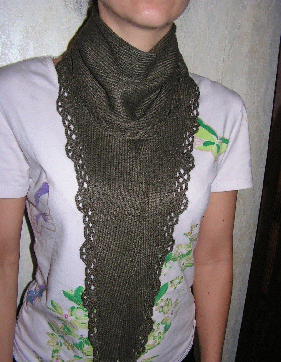 шарф-галстук зеленый