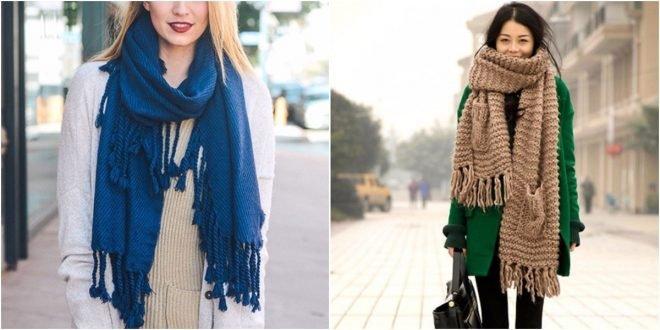 Женские шарфы 2019 2020 года. Модные тенденции, фото.