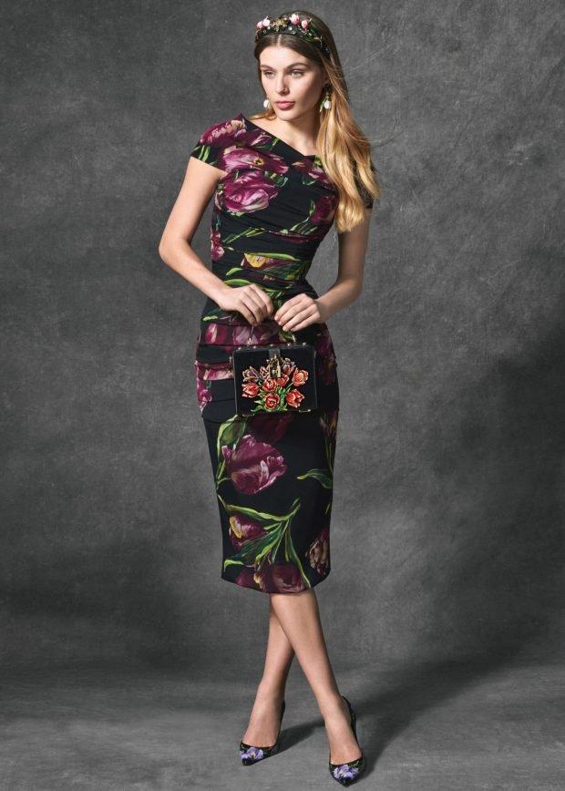 платье миди цветочный