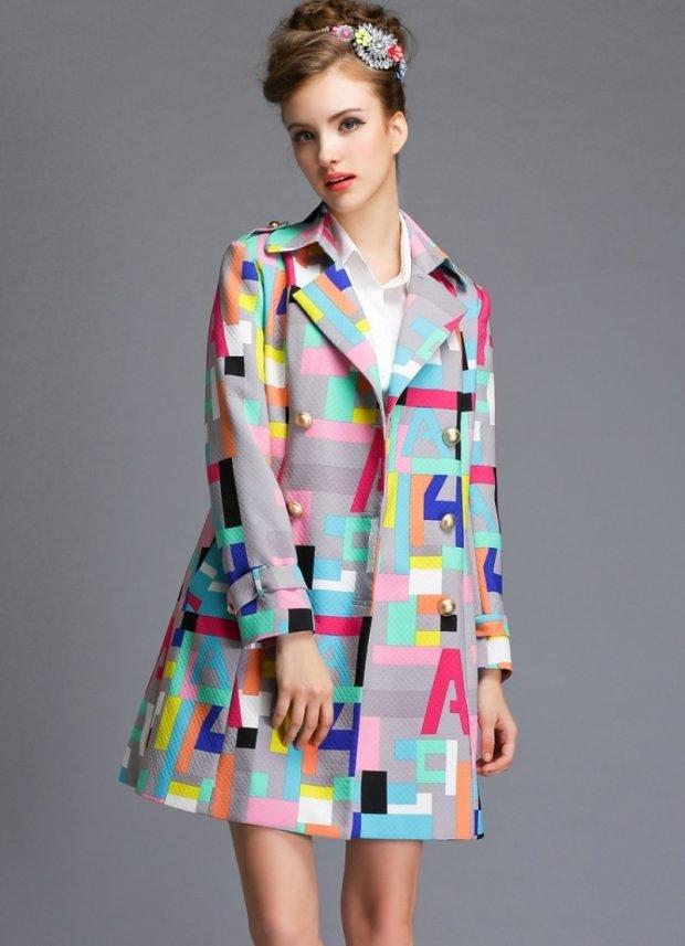 пальто геометрический