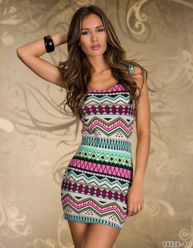 мини-платье геометрический