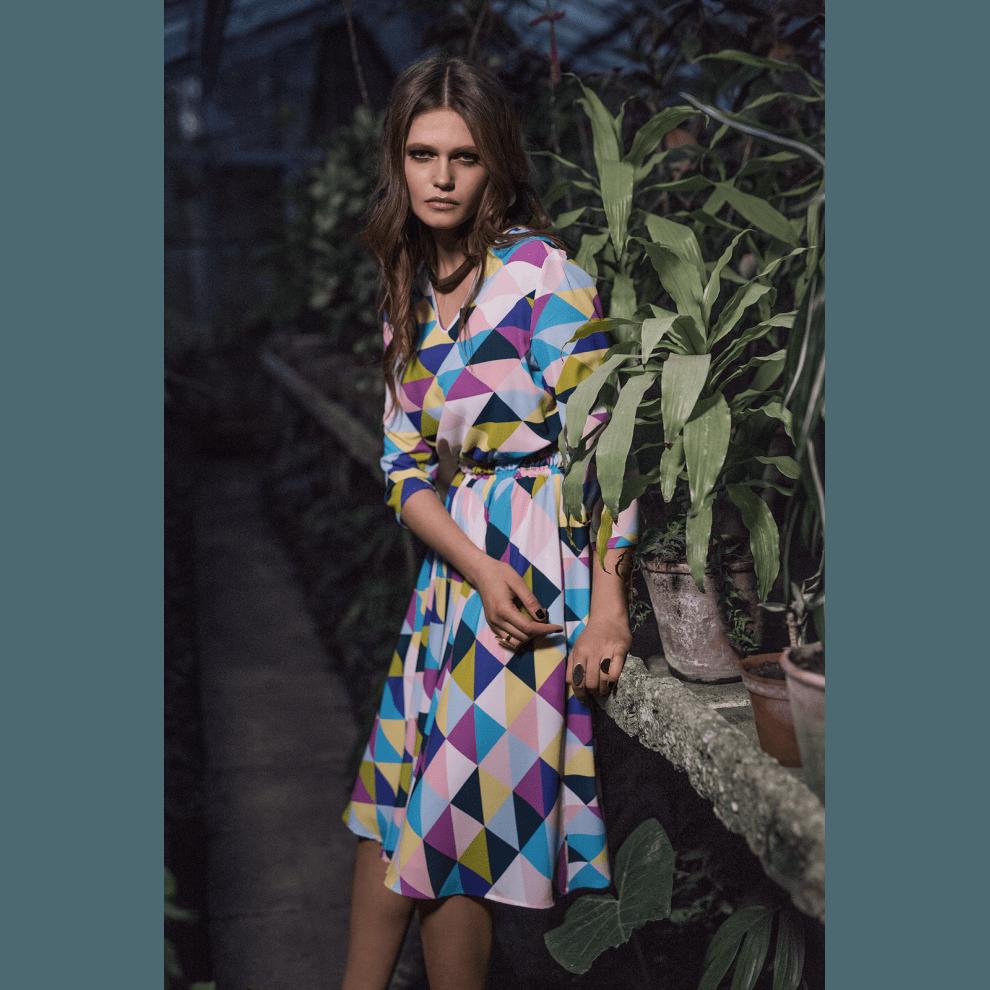 платье геометрический