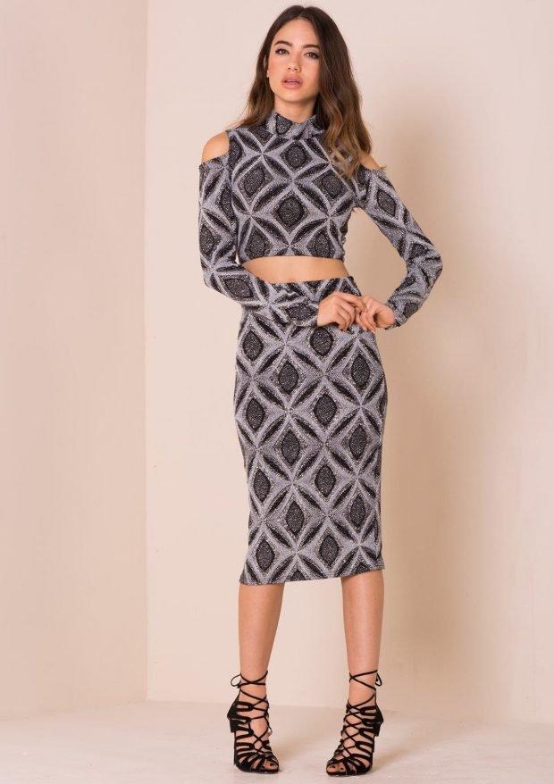 платье миди геометрический