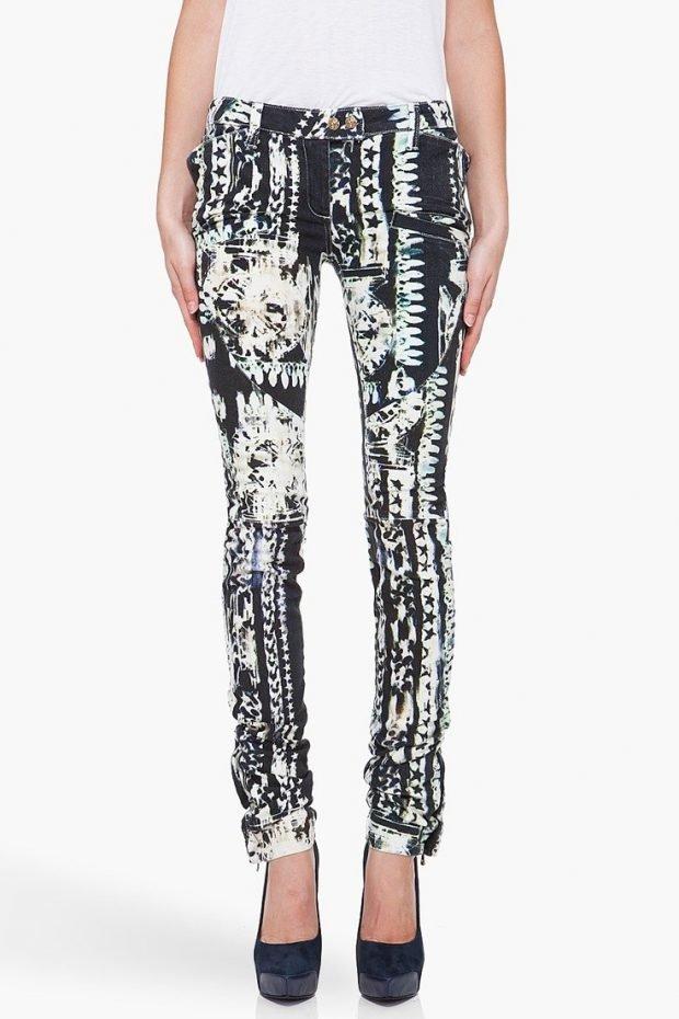 модные принты осень зима 2019 2020: брюки абстрактный модный