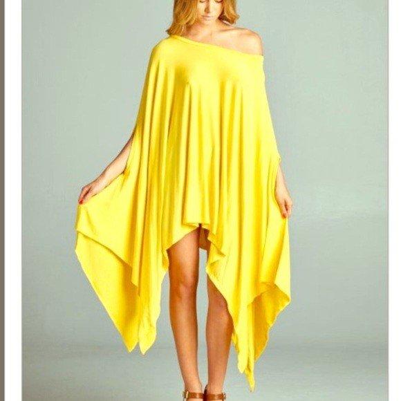 желтая безразмерная туника