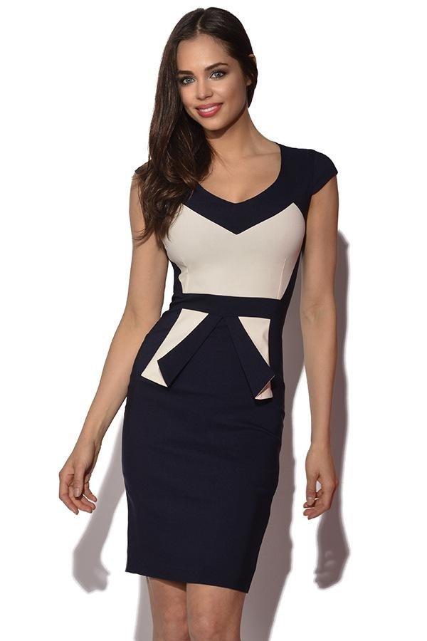 Модные офисные платья 2019 2020: черно-белое