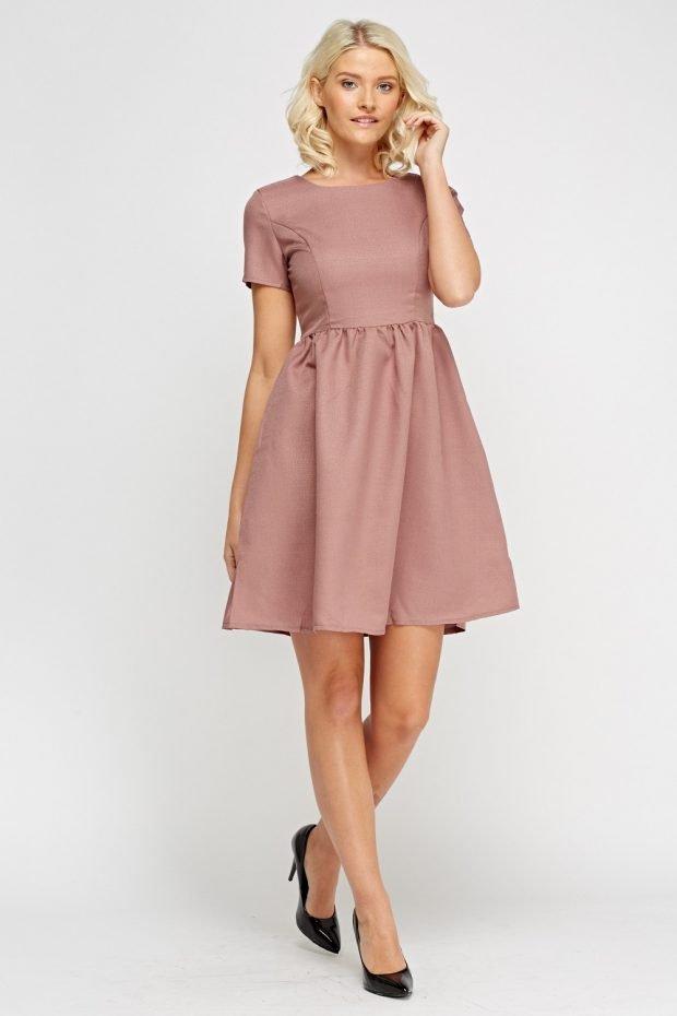 Модные офисные платья 2019 2020: бежевого цвета