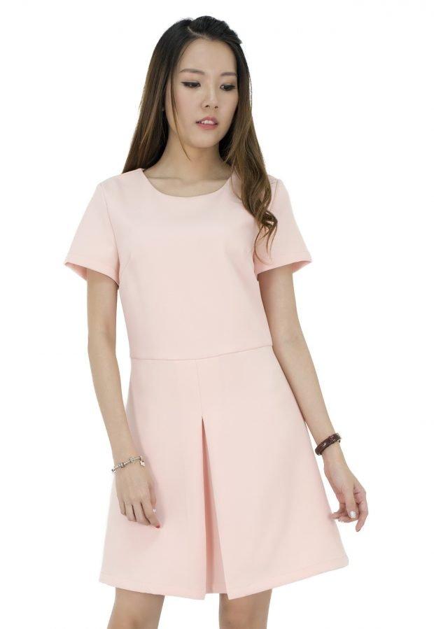 светлое свободное офисное платье 2018 2019