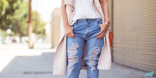 С чем носить джинсы? Фото.